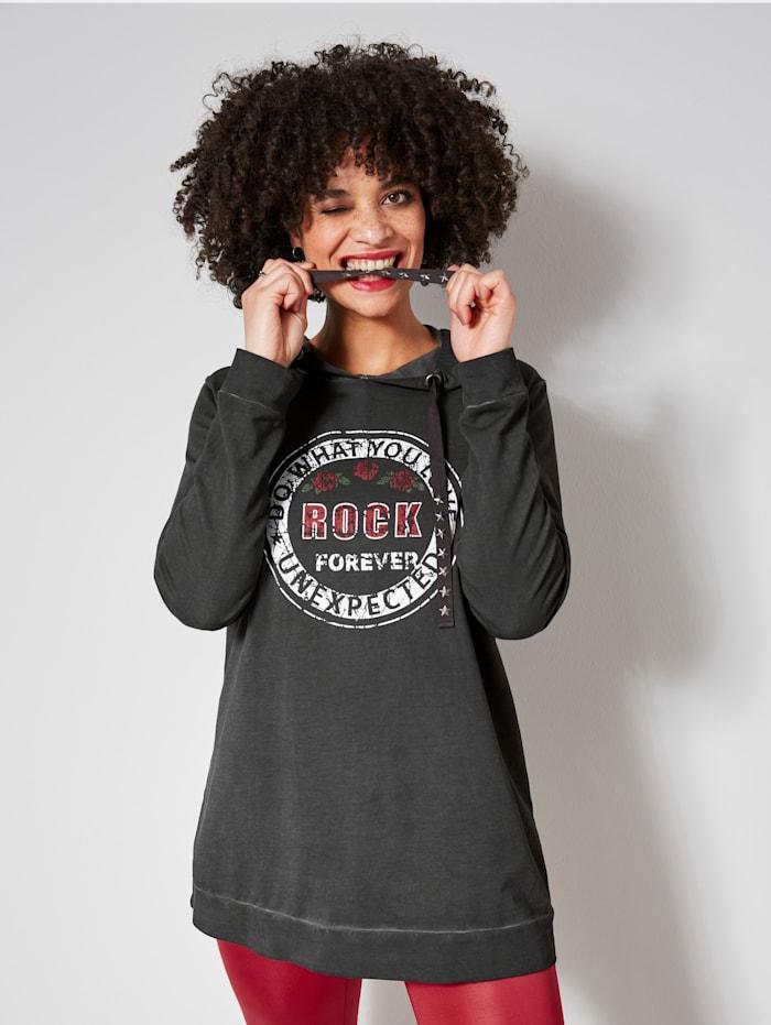 Angel of Style Sweatshirt Rock-stijl, Antraciet