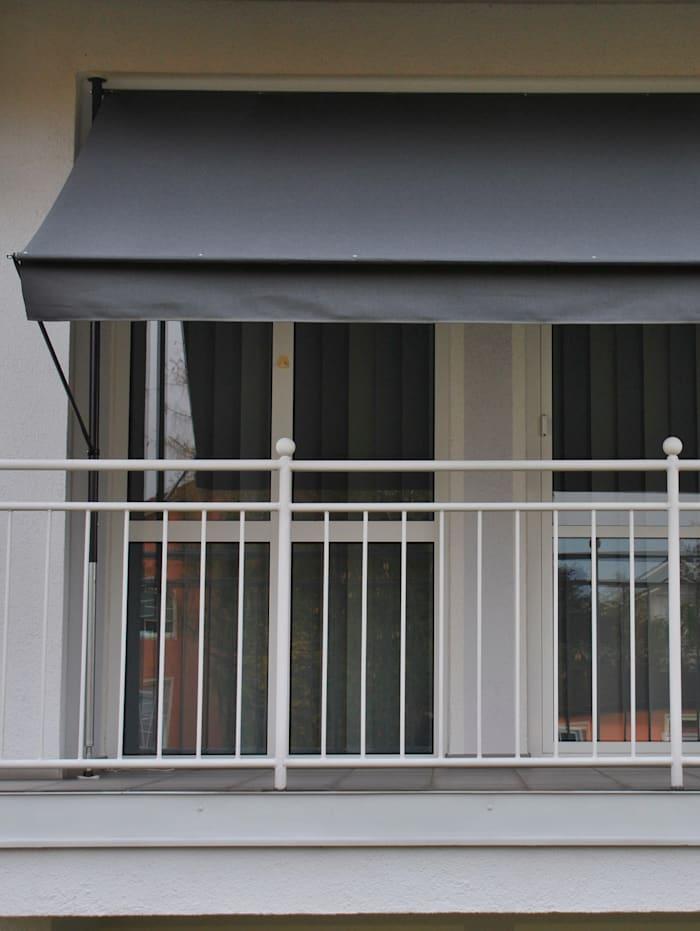 Angerer Luxus Klemmmarkise 400 cm mit Geradem -Abschluss, Anthrazit