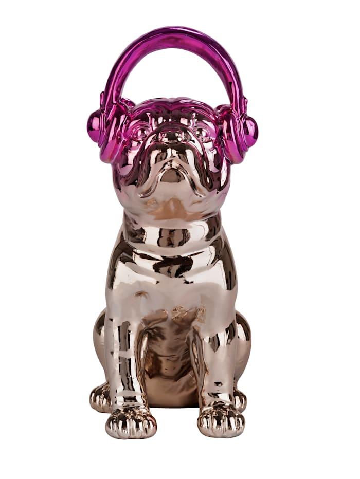 IMPRESSIONEN living Deko-Hund, goldfarben/pink