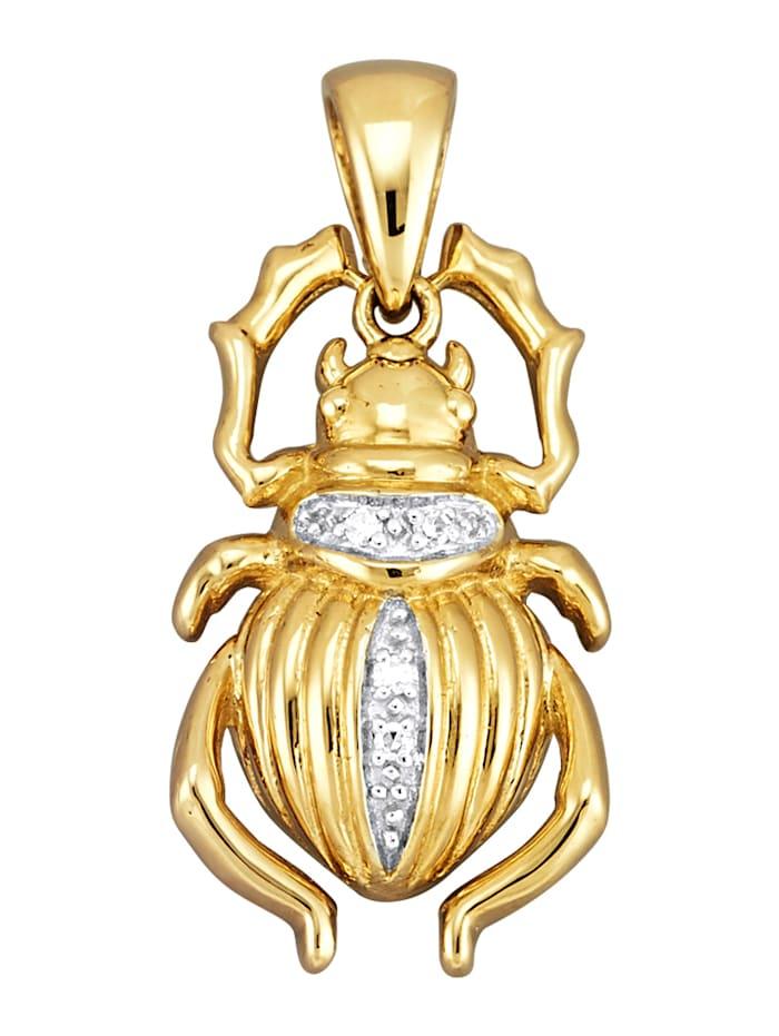 Diemer Diamant Hanger Scarabee met diamanten, Geelgoudkleur