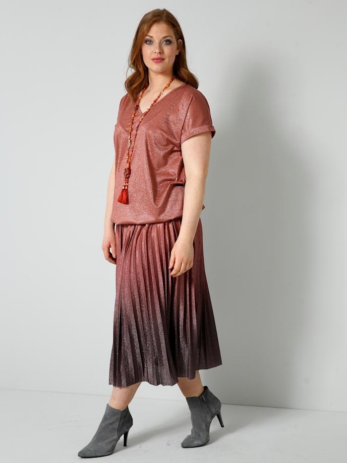 Shirt mit gesmoktem, elastischem Bündchen am Saum