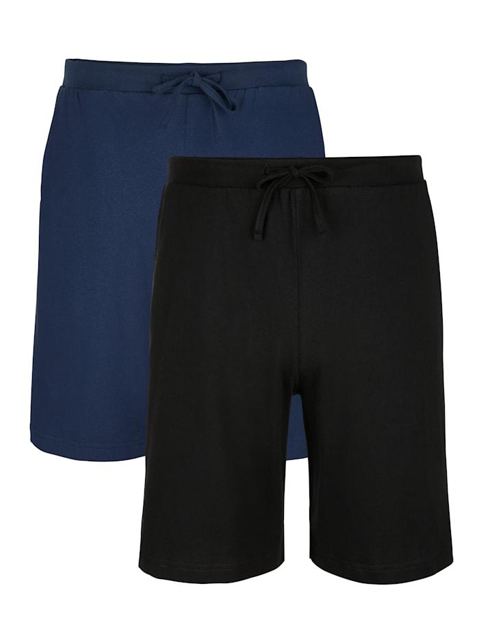 Korte broeken, Zwart/Marine