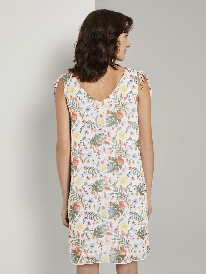Ärmelloses Chiffon-Kleid mit Schulter-Detail