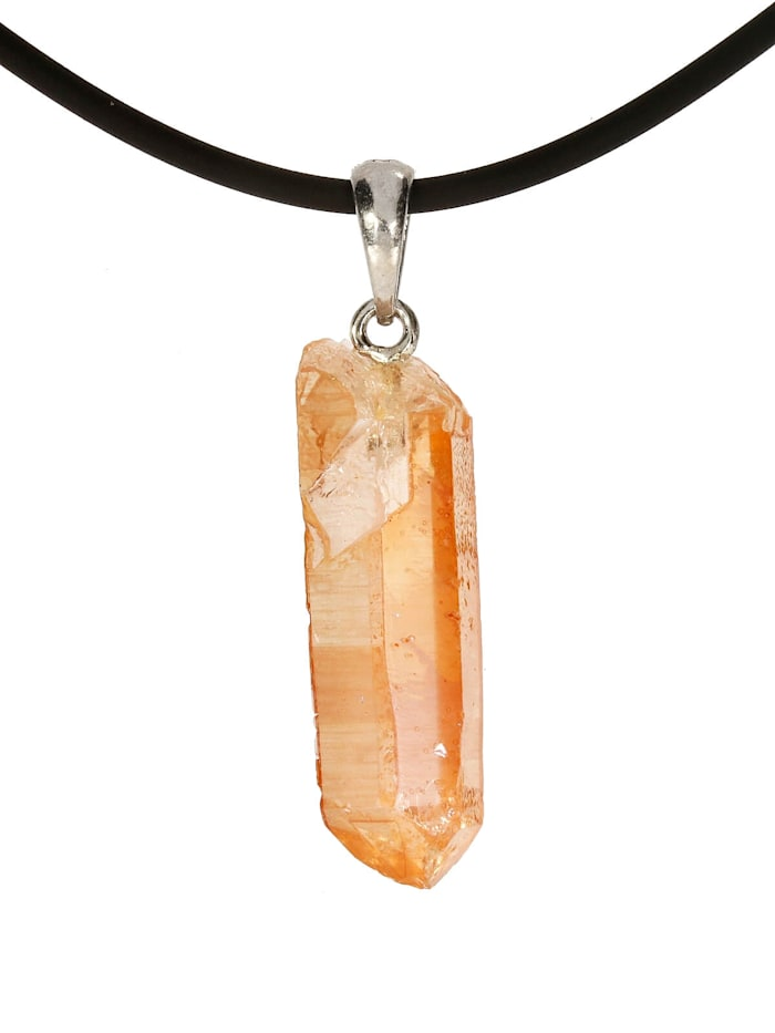 1001 Diamonds Bergkristall Anhänger 925 Silber, orange