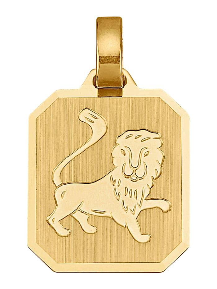 Hänge, stjärntecken Lejonet, Guldfärgad