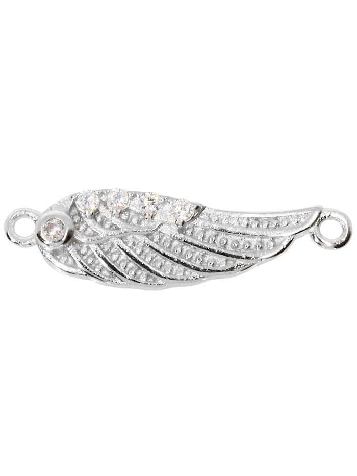 1001 Diamonds Damen Schmuck Edelstein Zirkonia Anhänger 925 Silber, silber