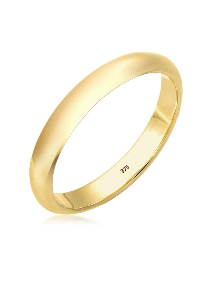 Elli Premium Ring Ehering Bandring Klassisch 375 Gelbgold, Gold