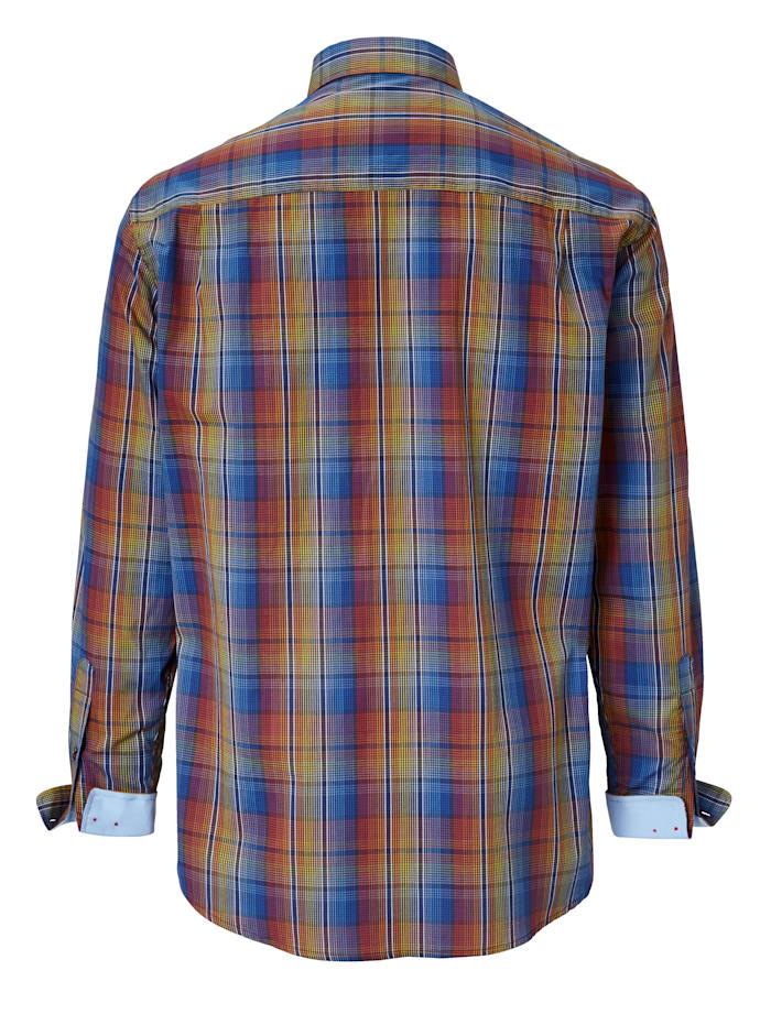 Chemise au superbe jeu de couleurs