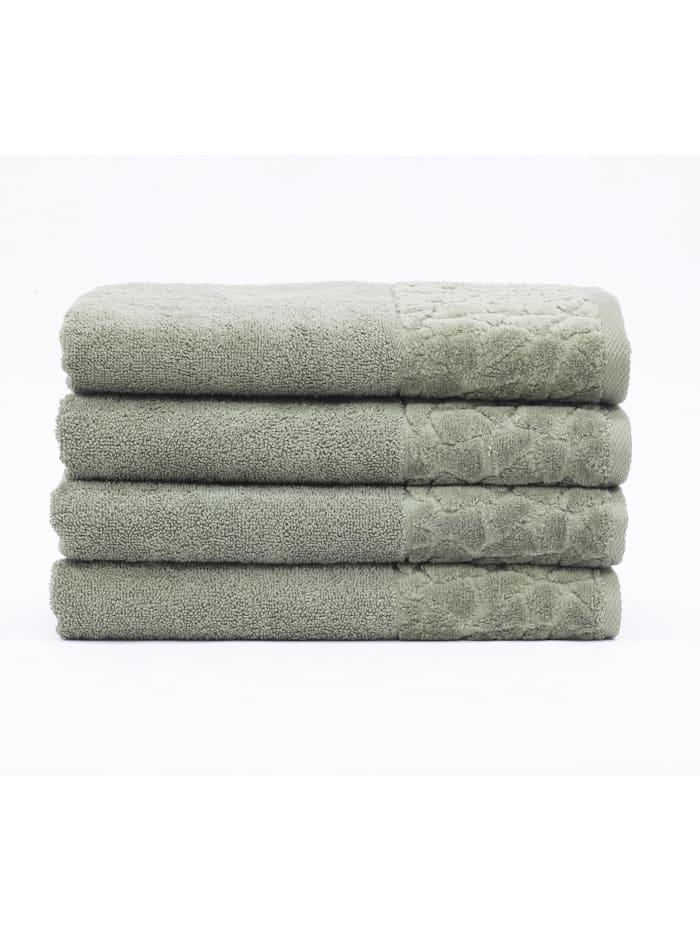 Döhler Handtuch Stones 4-teilig, grün