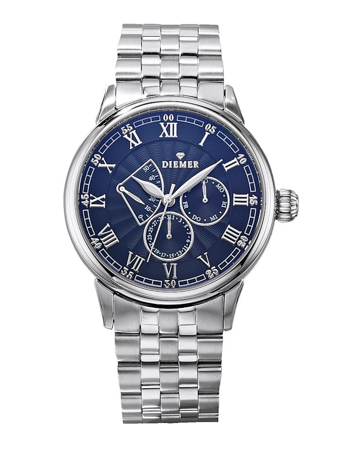 Diemer Highlights Automatisch herenhorloge, Zilverkleur
