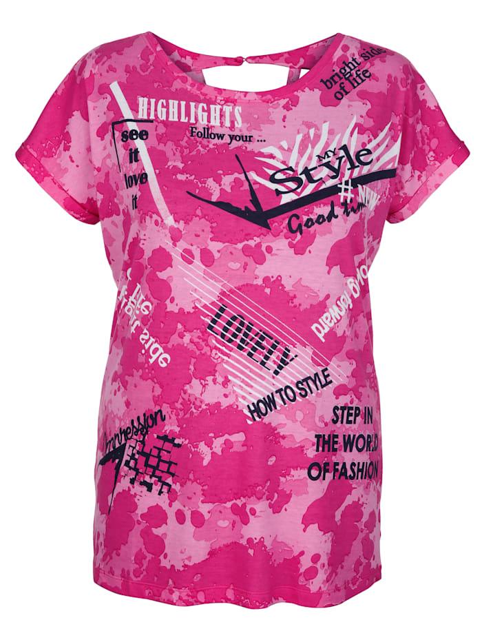 Shirt met opschriften