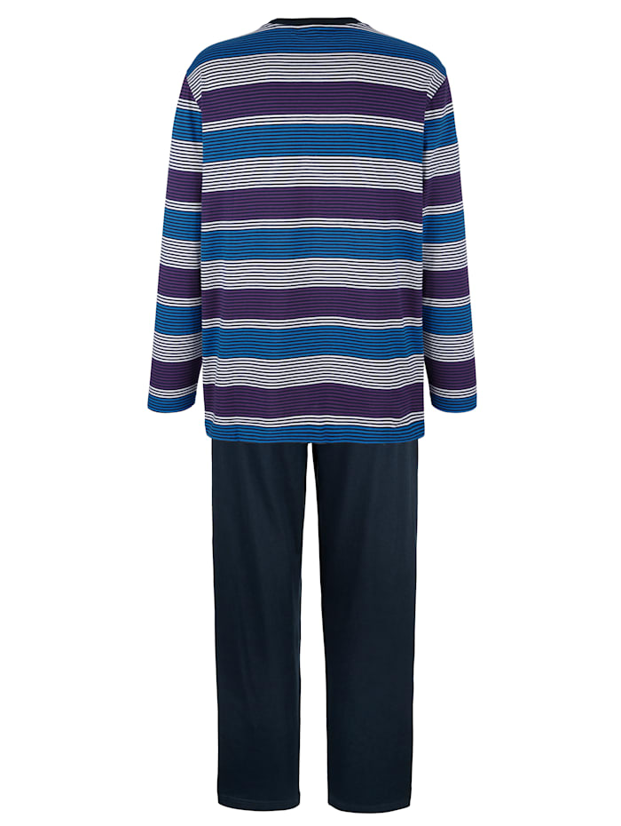Pyjama à motif rayé tissé-teint