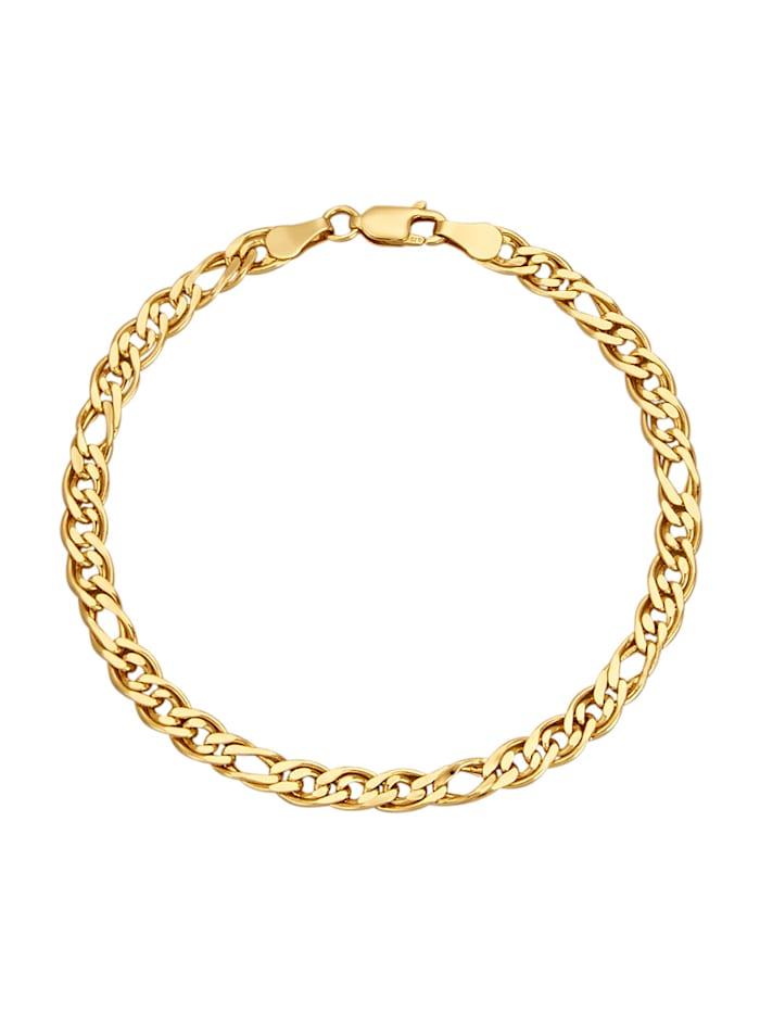 Bracelet maille fantaisie en or jaune 375
