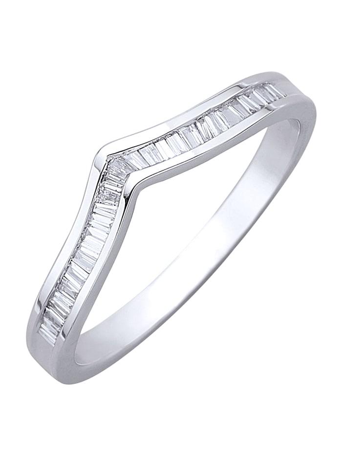 Diemer Diamant Damenring mit Diamanten, Silberfarben