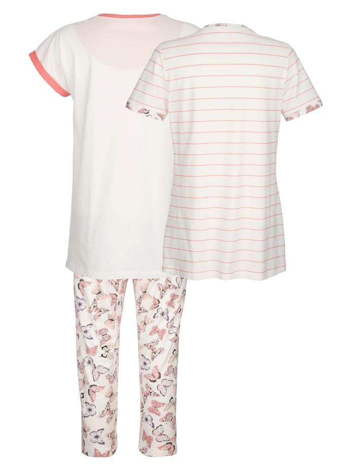 Schlafanzug mit zwei dekorativen Shirts Set