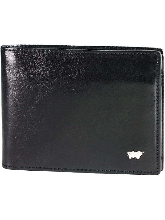 Braun Büffel Basic Geldbörse I Leder 11,5 cm, schwarz