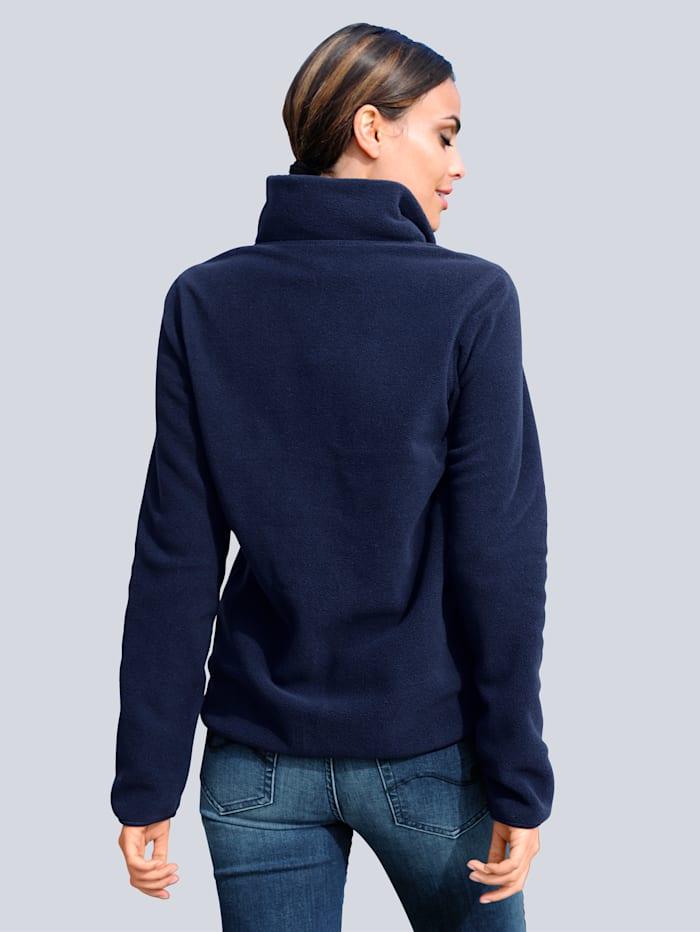 Fleece-Jacke in sportiver gemütlicher Optik