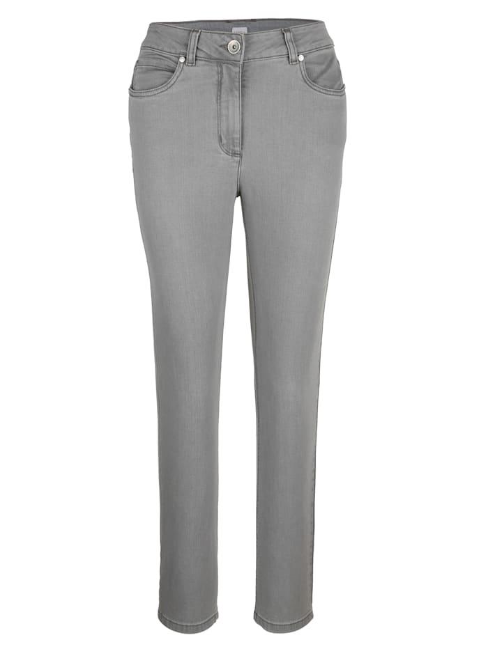 MONA Jeans in komfortabler Querstretch-Qualität, Grau