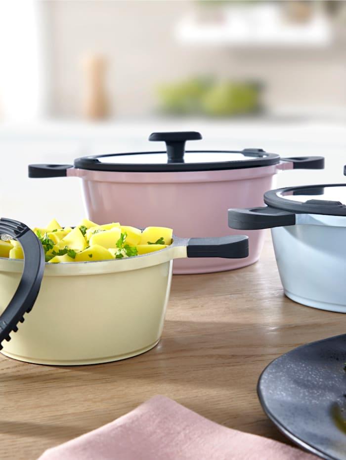 """Mulex Batterie de cuisine""""HAPPINESS"""" 6 pièces, Multicolore"""