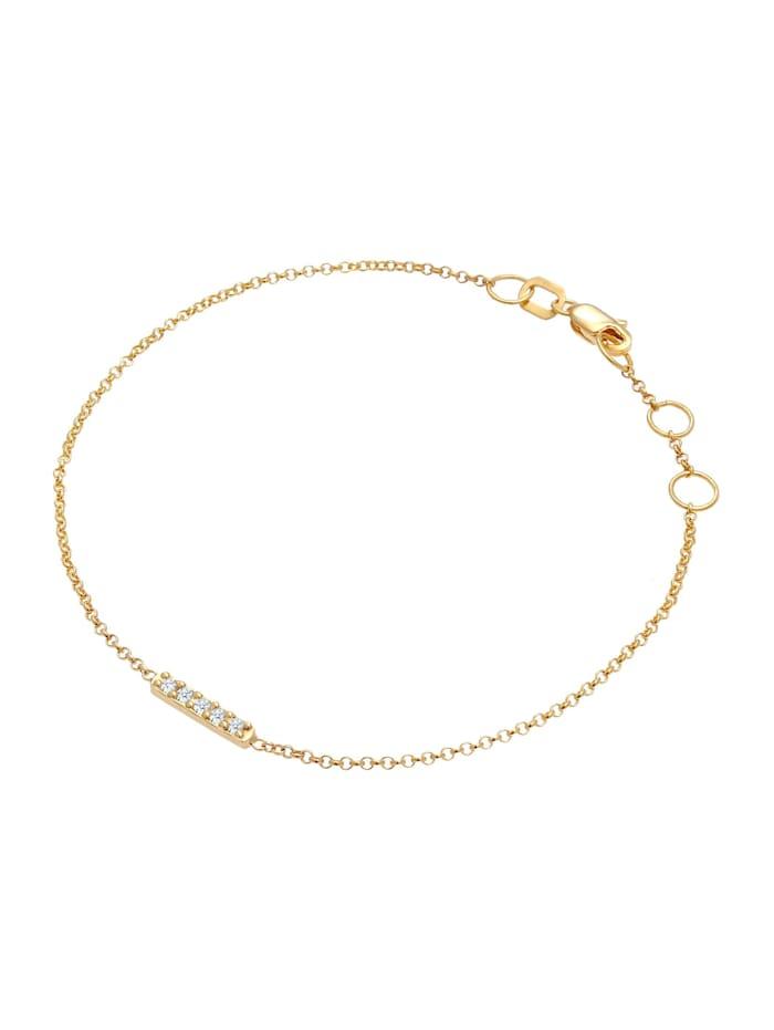Armband Basic Geo Diamant (0.075 Ct.) 375 Gelbgold