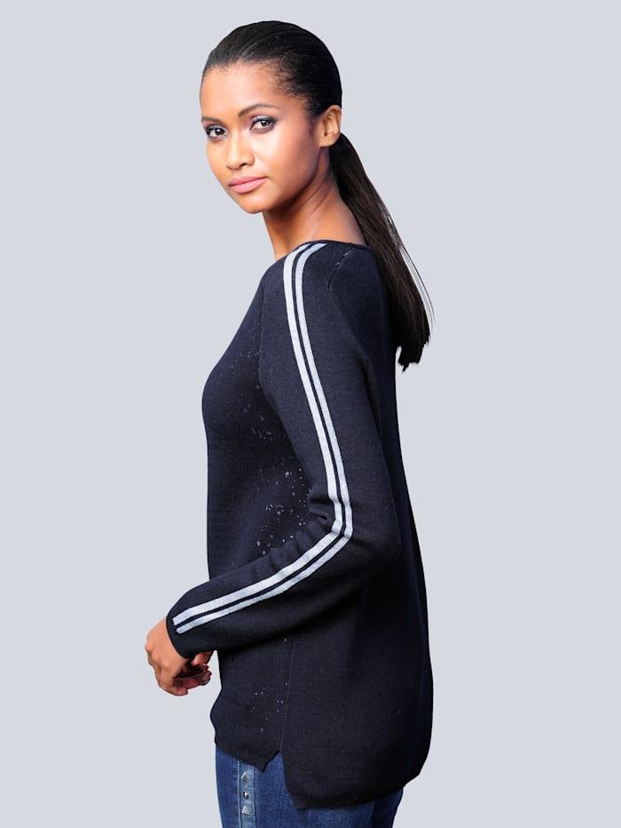 Pullover mit tonigem Folienprint