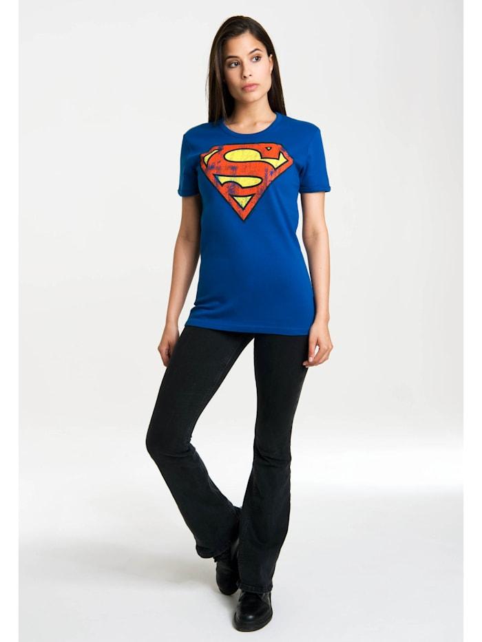 T-Shirt Superman-Logo mit lizenzierten Originaldesign