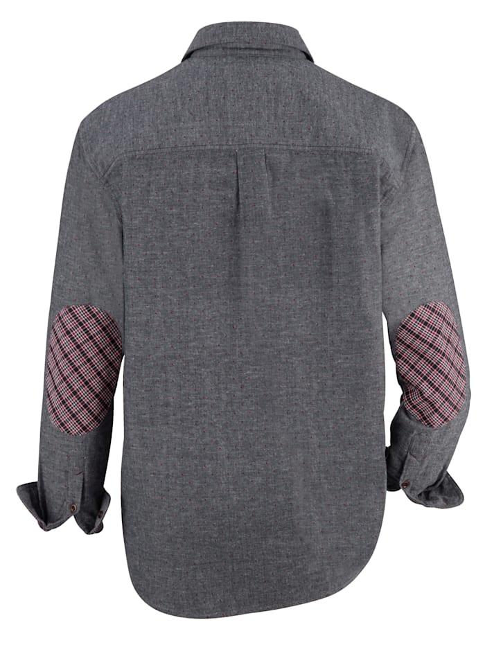 Overhemd met modieus contrast