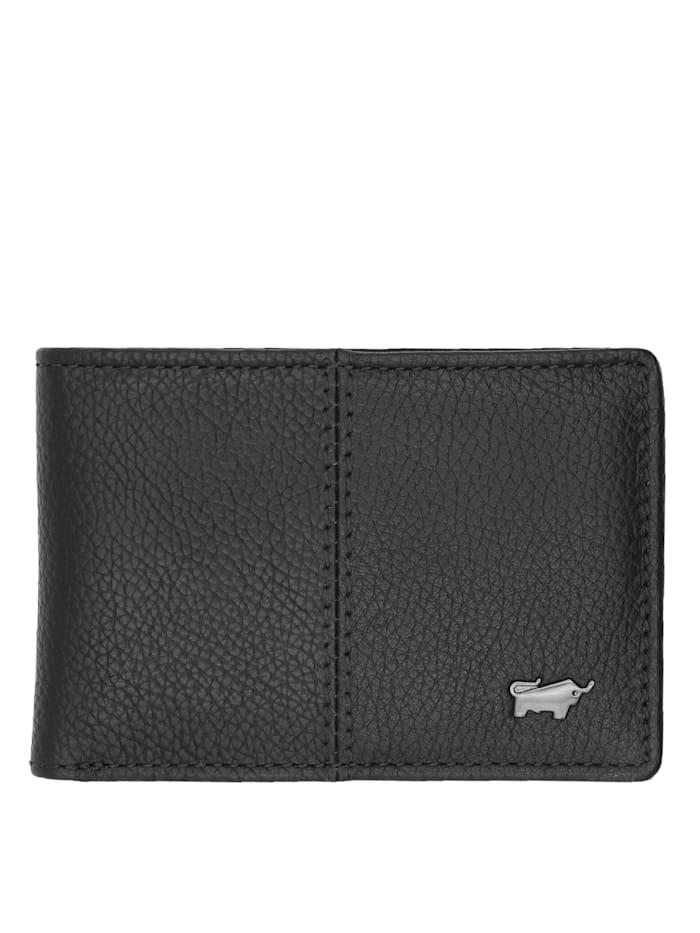 Braun Büffel Geldbörse VARESE 1CS in eleganter Optik, schwarz