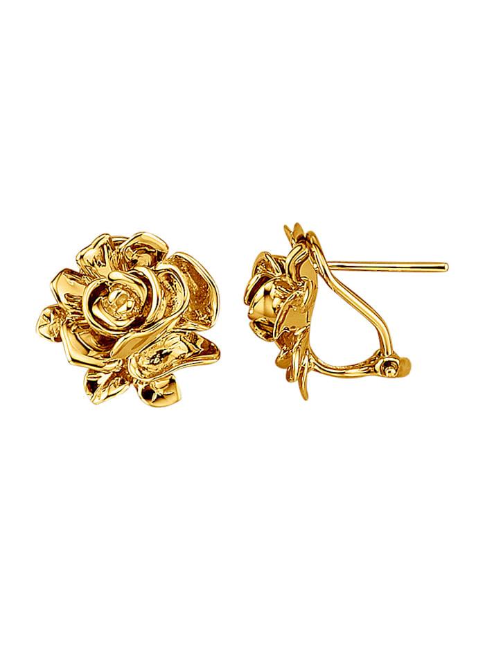 Amara Gold Rosen-Clip-Stecker in Gelbgold 750, Gelbgoldfarben