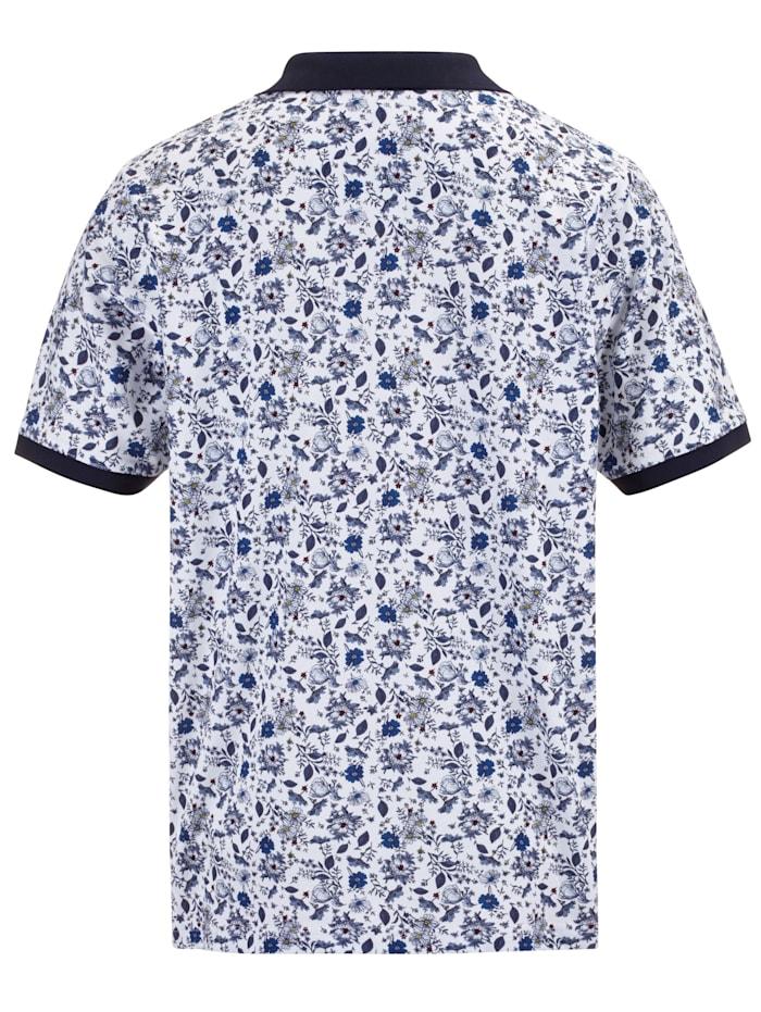 Poloshirt floral bedruckt