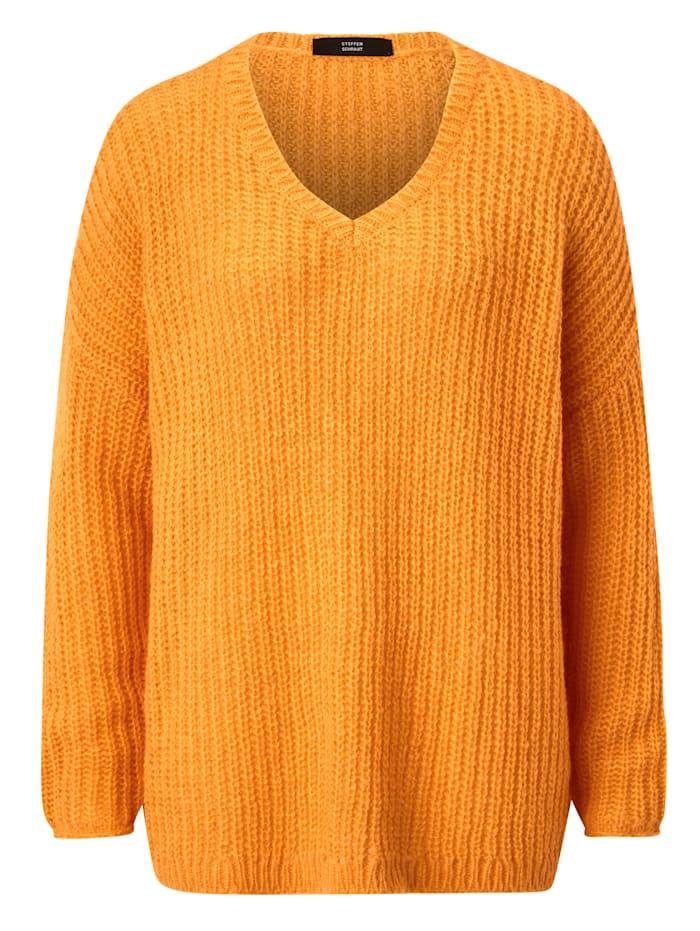 STEFFEN SCHRAUT Pullover V-Neck, Neonorange