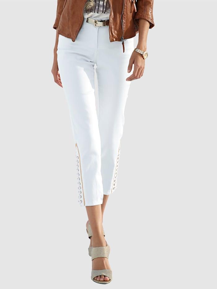 7/8-Jeans mit Schnürung