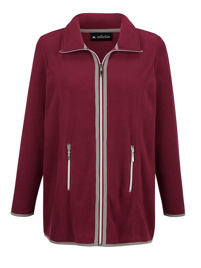 Fleece vest met modieuze kleurcontrasten
