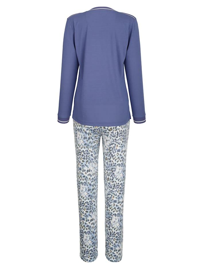 Pyjama met gestreepte zoomboordjes