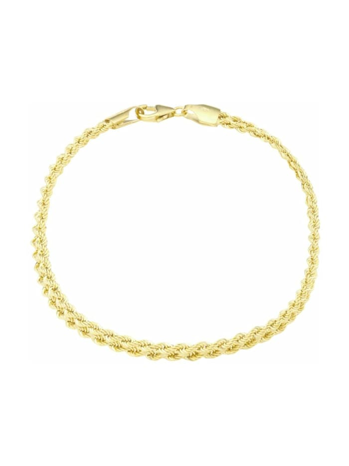 amor Armkette für Damen, Gold 375, Kordel, Gold