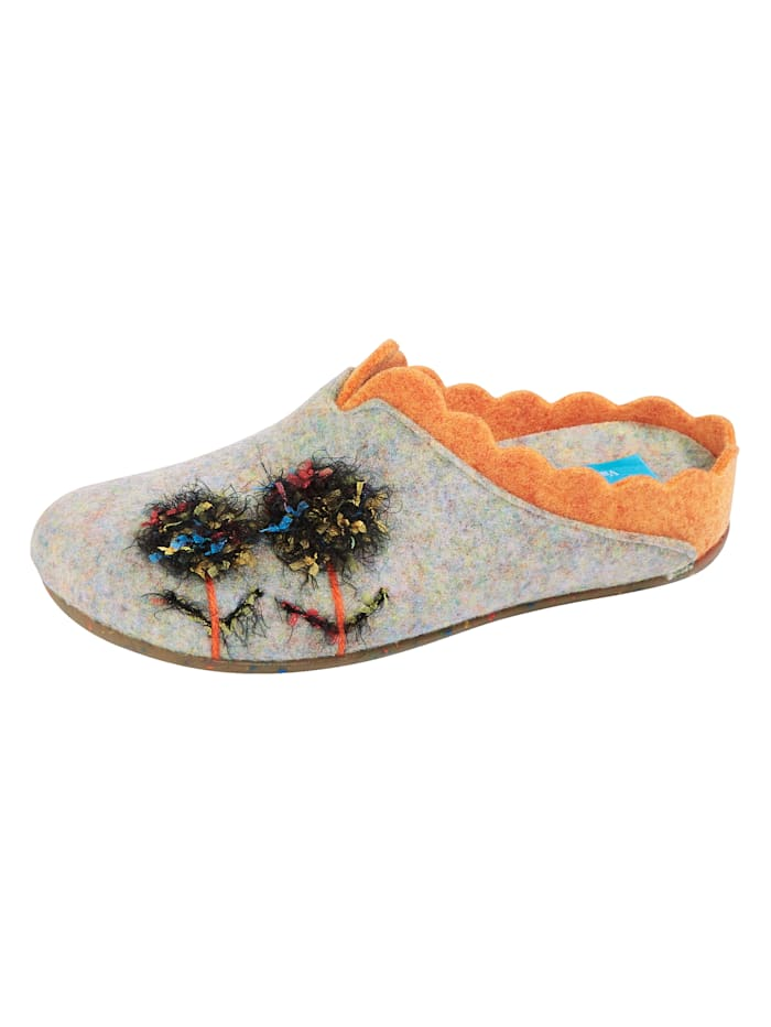 Varomed Pantoffel mit rutschhemmender Gummilaufsohle, Multicolor