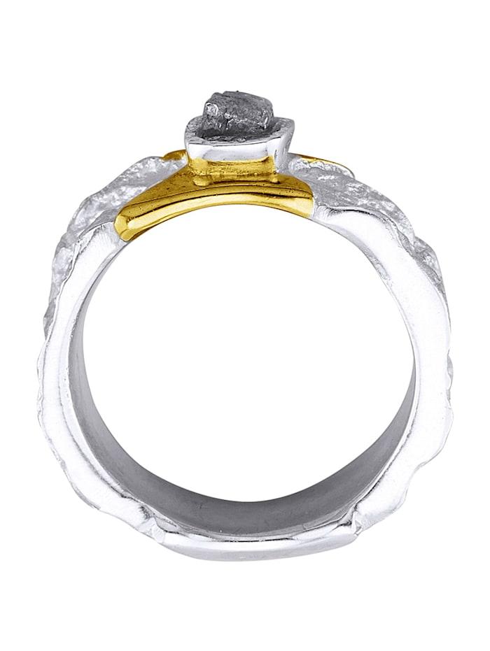 Damesring met ruwe diamant