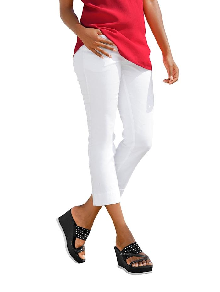 Alba Moda 7/8 Hose zum Krempeln, Weiß