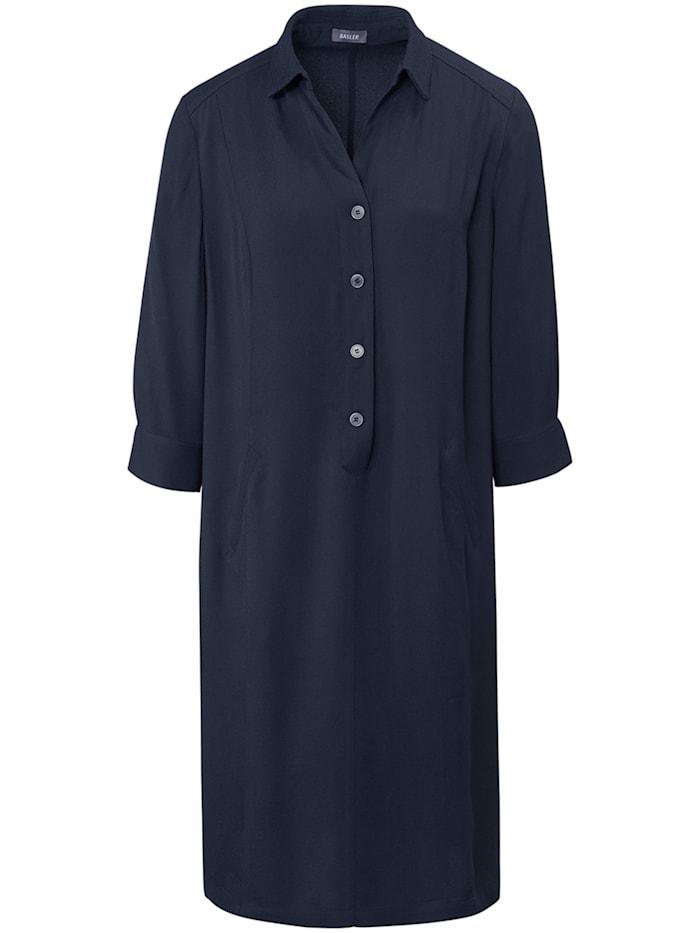 Basler Shirt-Kleid im unifarbigen Design mit Knopfleiste, night blue