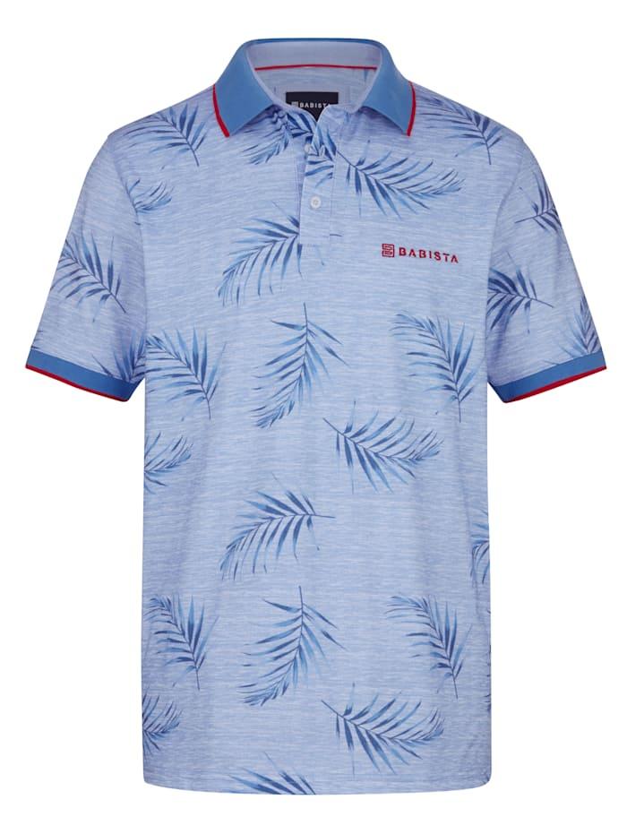 BABISTA Polo tričko s kvetinovou potlačou, Modrá