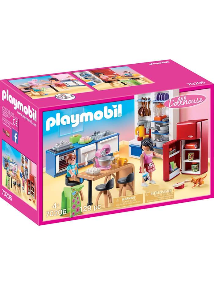 PLAYMOBIL Konstruktionsspielzeug Familienküche, Bunt