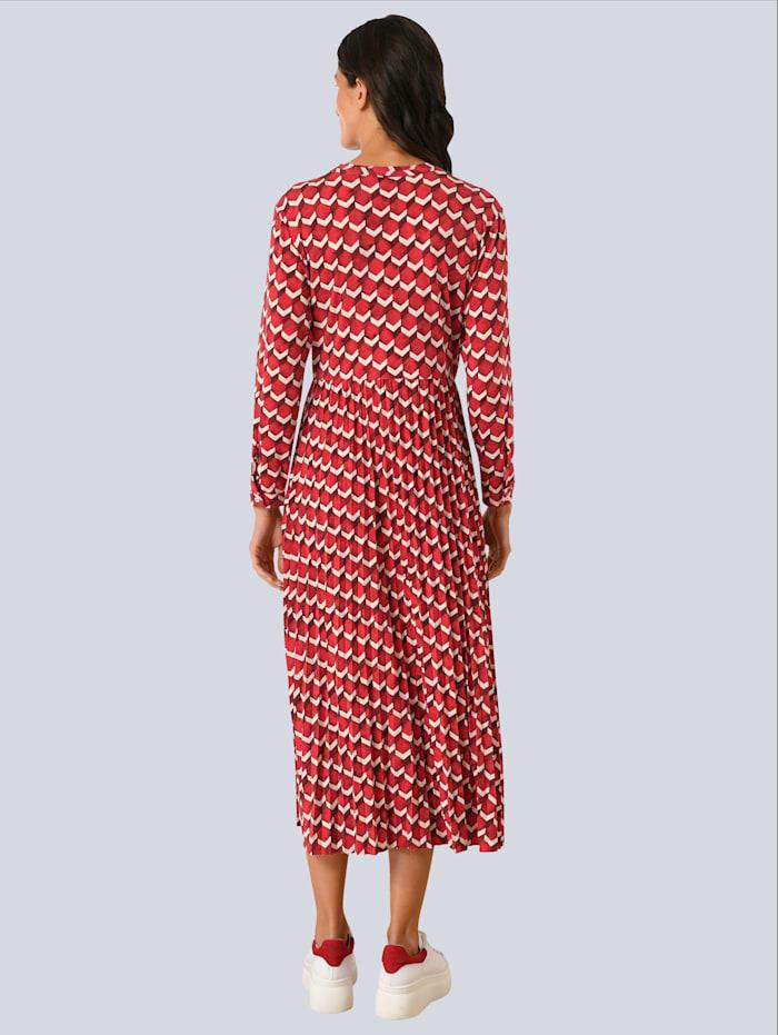 Kleid allover im Grafikdessin