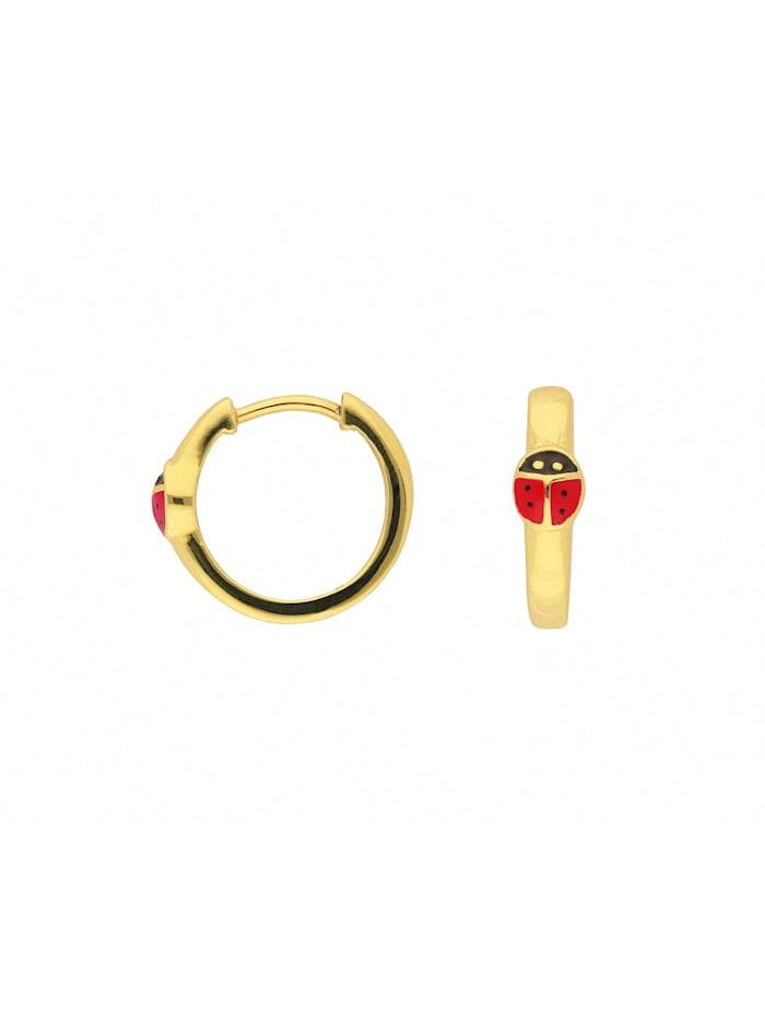 1001 Diamonds Damen Goldschmuck 333 Gold Ohrringe / Creolen Marienkäfer Ø 14,1 mm, gold