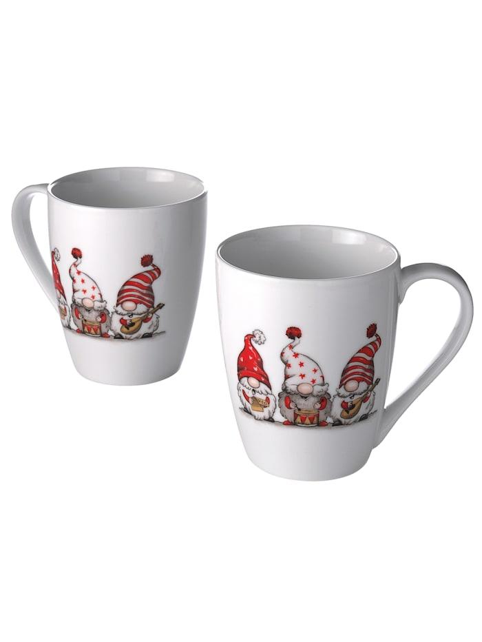 Ritzenhof & Breker Lot de 2 tasses à café 'Trolls', Multicolore