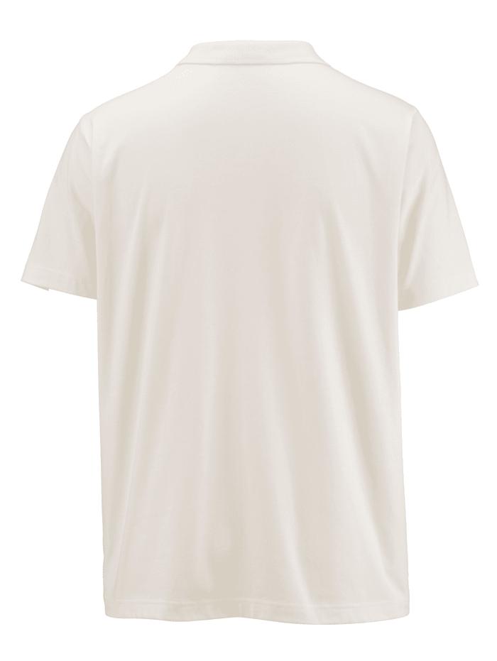 Poloshirt mit Kontrastdruck im Vorderteil