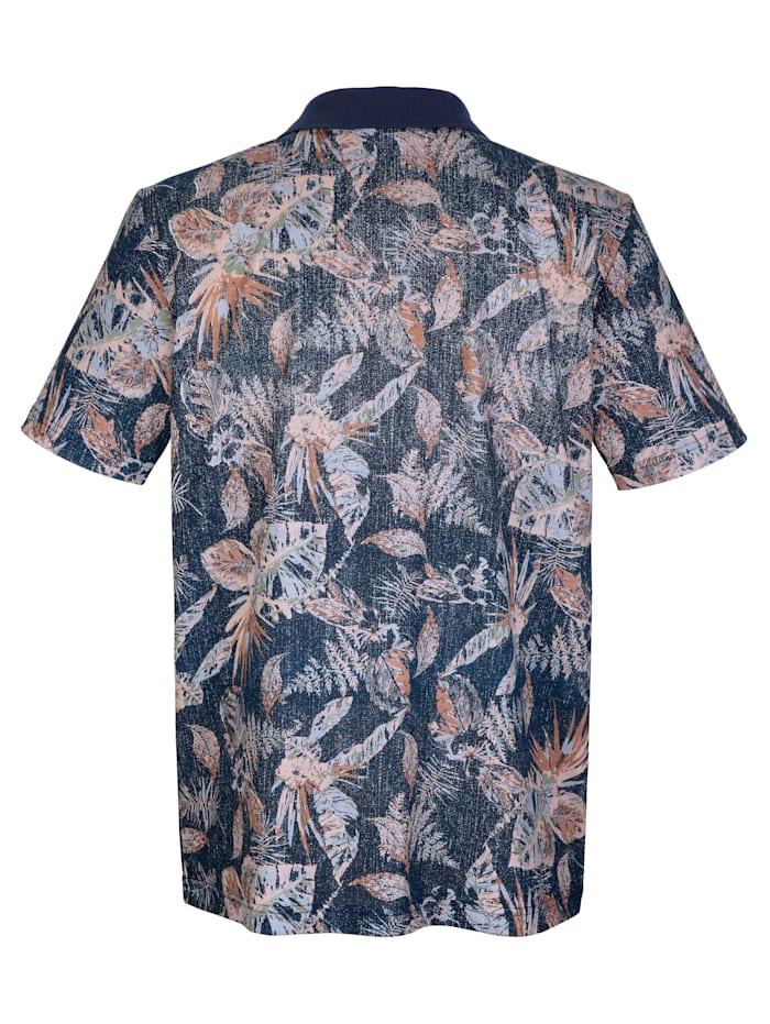Poloshirt mit floralem Druck