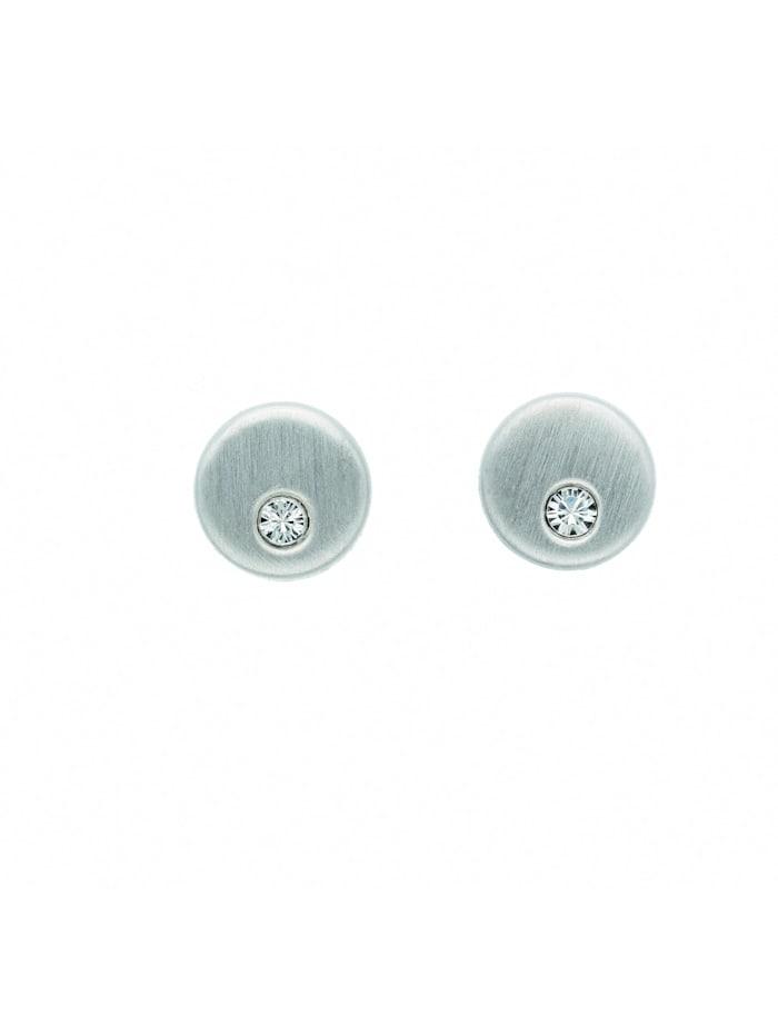 1001 Diamonds Damen Silberschmuck 925 Silber Ohrringe / Ohrstecker mit Glasstein Ø 5,4 mm, bunt/multi