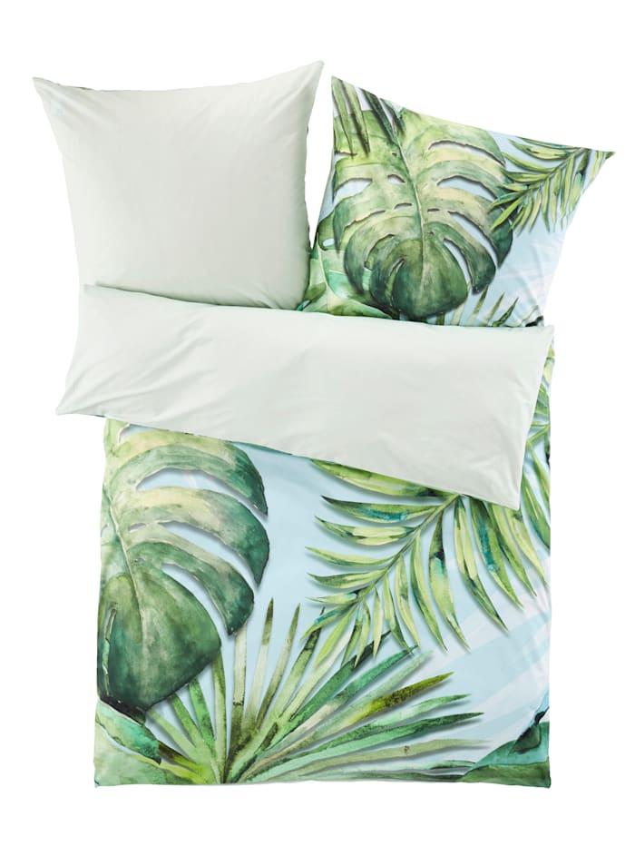 Webschatz Bäddserie i lakansväv – Leilani, grön/blå