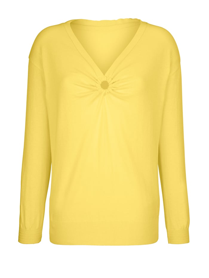 AMY VERMONT Pullover mit dekorativem Cut-Out, Gelb