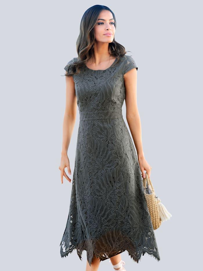 Alba Moda Strandkleid aus Spitze, Oliv
